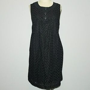 C Blu Sage black dots dress 12 E527